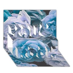 Great Garden Roses Blue You Rock 3d Greeting Card (7x5)
