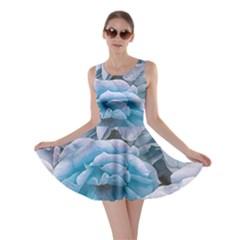 Great Garden Roses Blue Skater Dresses