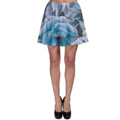 Great Garden Roses Blue Skater Skirts