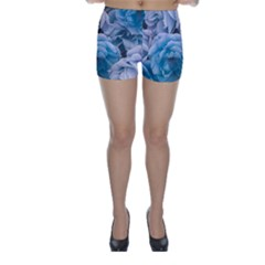 Great Garden Roses Blue Skinny Shorts