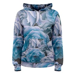 Great Garden Roses Blue Women s Pullover Hoodies