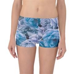 Great Garden Roses Blue Boyleg Bikini Bottoms