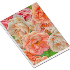 Great Garden Roses, Orange Large Memo Pads