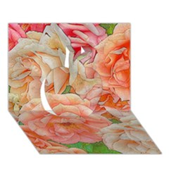 Great Garden Roses, Orange Apple 3d Greeting Card (7x5)