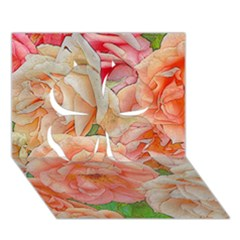 Great Garden Roses, Orange Clover 3D Greeting Card (7x5)