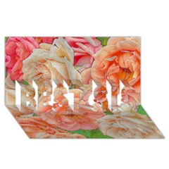 Great Garden Roses, Orange Best Sis 3d Greeting Card (8x4)