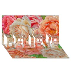 Great Garden Roses, Orange Believe 3d Greeting Card (8x4)