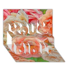 Great Garden Roses, Orange You Did It 3D Greeting Card (7x5)