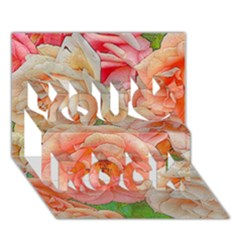 Great Garden Roses, Orange You Rock 3d Greeting Card (7x5)