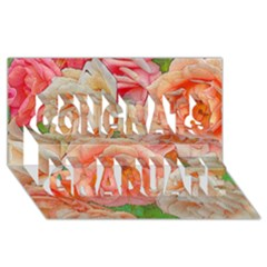 Great Garden Roses, Orange Congrats Graduate 3D Greeting Card (8x4)