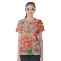 Great Garden Roses, Orange Women s Cotton Tees
