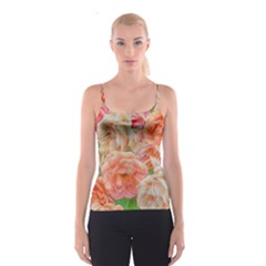 Great Garden Roses, Orange Spaghetti Strap Tops