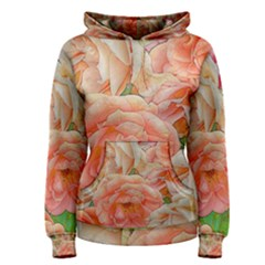 Great Garden Roses, Orange Women s Pullover Hoodies