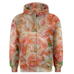 Great Garden Roses, Orange Men s Zipper Hoodies