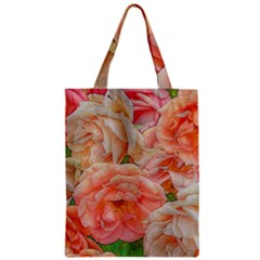 Great Garden Roses, Orange Zipper Classic Tote Bags