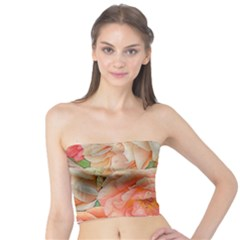 Great Garden Roses, Orange Women s Tube Tops