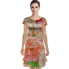 Great Garden Roses, Orange Cap Sleeve Nightdresses