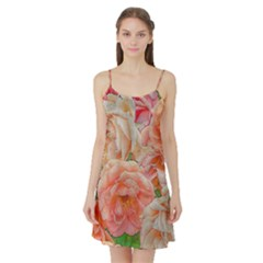 Great Garden Roses, Orange Satin Night Slip