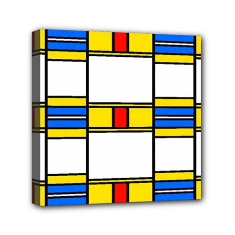 Colorful Squares And Rectangles Pattern Mini Canvas 6  X 6  (stretched)
