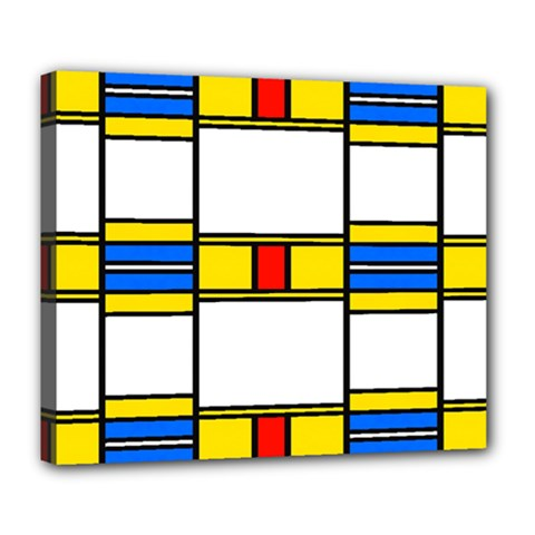 Colorful Squares And Rectangles Pattern Deluxe Canvas 24  X 20  (stretched)