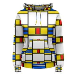 Colorful squares and rectangles pattern Women s Pullover Hoodie