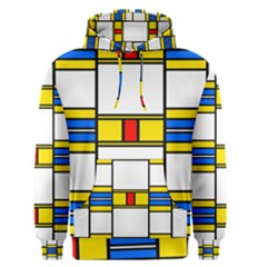 Colorful Squares And Rectangles Pattern Men s Pullover Hoodie