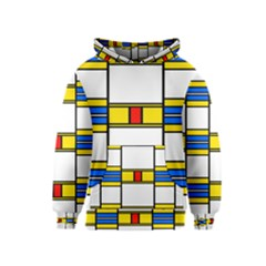 Colorful squares and rectangles pattern Kid s Pullover Hoodie