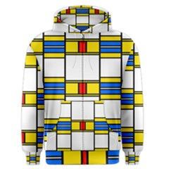 Colorful squares and rectangles pattern Men s Zipper Hoodie