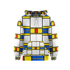 Colorful squares and rectangles pattern Kids Zipper Hoodie