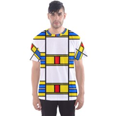 Colorful Squares And Rectangles Pattern Men s Sport Mesh Tee