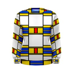 Colorful squares and rectangles pattern  Women s Sweatshirt