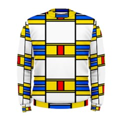 Colorful Squares And Rectangles Pattern  Men s Sweatshirt