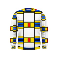 Colorful squares and rectangles pattern  Kid s Sweatshirt