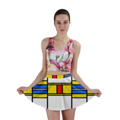 Colorful squares and rectangles pattern Mini Skirt