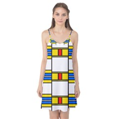 Colorful Squares And Rectangles Pattern Camis Nightgown
