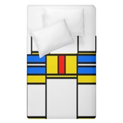Colorful Squares And Rectangles Pattern  Duvet Cover (single Size)