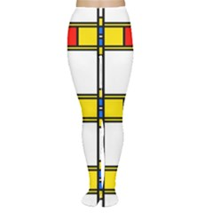 Colorful squares and rectangles pattern Tights