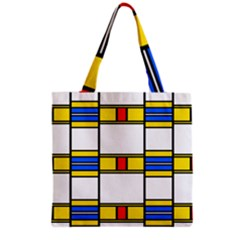Colorful Squares And Rectangles Pattern Grocery Tote Bag