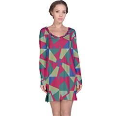 Shapes in squares pattern nightdress