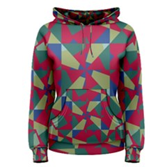 Shapes in squares pattern Women s Pullover Hoodie