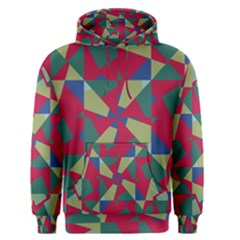 Shapes in squares pattern Men s Pullover Hoodie