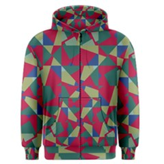 Shapes in squares pattern Men s Zipper Hoodie
