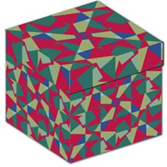 Shapes in squares pattern Storage Stool
