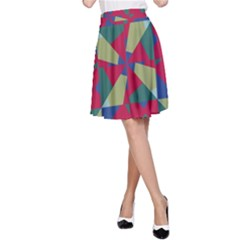 Shapes in squares pattern A-line Skirt