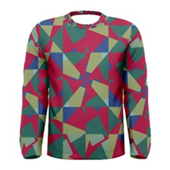 Shapes in squares pattern Men Long Sleeve T-shirt
