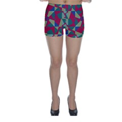 Shapes in squares pattern Skinny Shorts