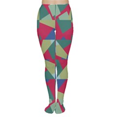 Shapes In Squares Pattern Tights