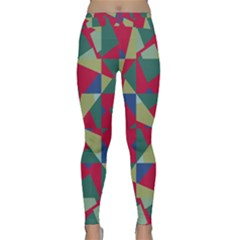 Shapes in squares pattern Yoga Leggings