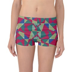 Shapes In Squares Pattern Boyleg Bikini Bottoms
