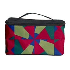 Shapes In Squares Pattern Cosmetic Storage Case
